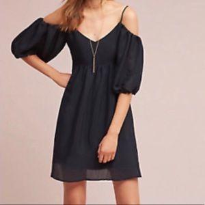 Moulinette Soeurs Carina cold shoulder dress Black